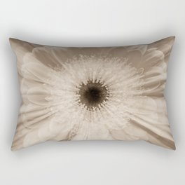 Chantilly Gerbera Daisy in sepia Gerber daisies Rectangular Pillow