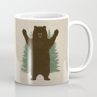 hug Mugs featuring Bear Hug by powerpig