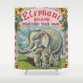 Elephant Brand Firecracker Shower Curtain