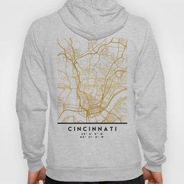 CINCINNATI OHIO CITY STREET MAP ART Hoody