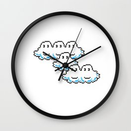 Super Mario Clouds Wall Clock