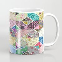quilt Mugs featuring Betty's Diamond Quilt by Rachel Caldwell