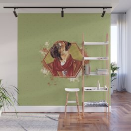 Hipster Bullmastiff dog Wall Mural