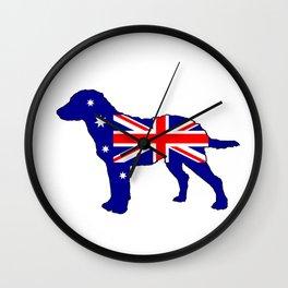 Australian Flag - Chesapeake Bay Retriever Wall Clock