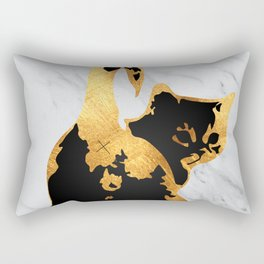 Golden Cat Rectangular Pillow
