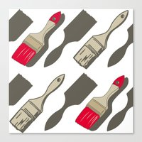 tool Canvas Prints featuring Tool Time by Pattern Design