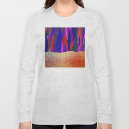 Abstract Colorful Pastel look Design Long Sleeve T-shirt