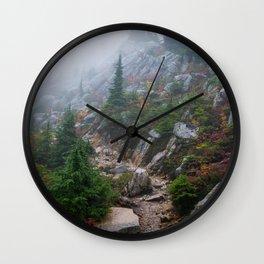 A foggy day Wall Clock