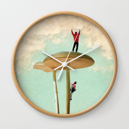 Land of the Giant Mushroom Wall Clock