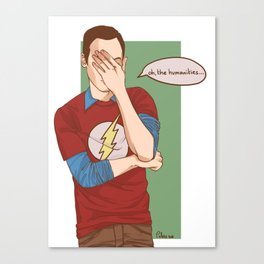 Sheldon Cooper Facepalm Canvas Print