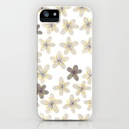 Grey and yellow flowers iPhone Case