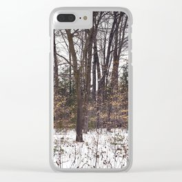 Snowy Woods Clear iPhone Case