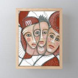 """Three-Faced"" Framed Mini Art Print"