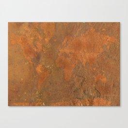 Rock Map 1 - Organic World Map Series Canvas Print