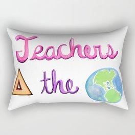 Teachers Change the World Rectangular Pillow