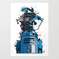Star Wars R2D2 Art Print