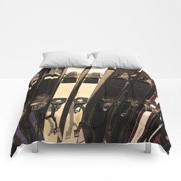 Vintage Skis Comforters