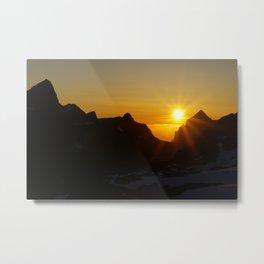 The midnight sun Metal Print