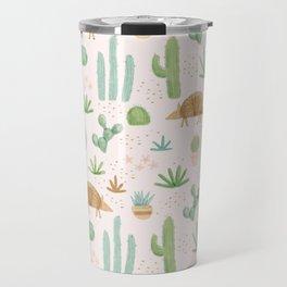 Armadillos in the Desert - Watercolor Travel Mug