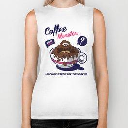 Coffee Monster Pink Biker Tank