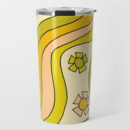 groovy rainbow flower power wallpaper vibes Travel Mug