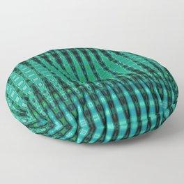 Turquoise Abstract Obelisk Floor Pillow