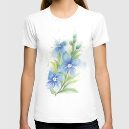 Veronica, Floral Watercolor T-shirt