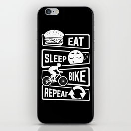 Eat Sleep Bike Repeat - Bicycle Racing Cycling iPhone Skin