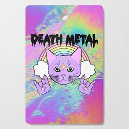 Death Metal Kitty Cutting Board