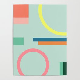 Modern Geometric 71 Poster