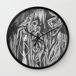 lady death and her birds Wall Clock