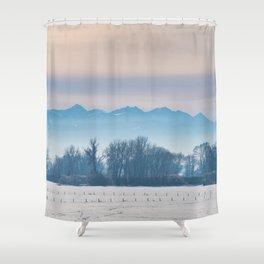 Spanish Peaks Fog Shower Curtain