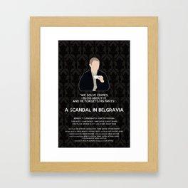A Scandal in Belgravia - John Watson Framed Art Print