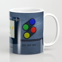 gameboy Mugs featuring GAMEBOY by MiliarderBrown