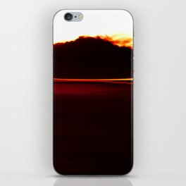 Night Lights Car and Fire Mountain iPhone Skin