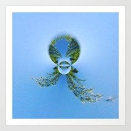 blue green planet bug Art Print