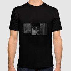 The Laundromat B&W MEDIUM Black Mens Fitted Tee