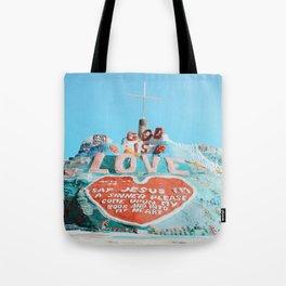 Salvation Mountain Tote Bag