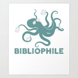 Octopus Bibliophile Book Lover Art Print