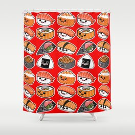 Sushi family party Shower Curtain