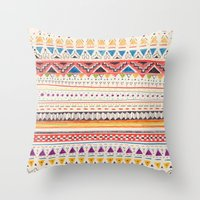 patterns Throw Pillows featuring Pattern by Sandra Dieckmann