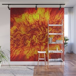Fire Cat. Wall Mural
