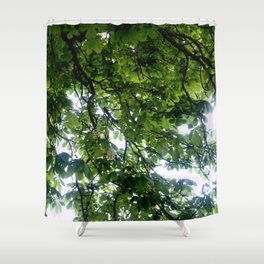 Greenery and leaf VIII Shower Curtain