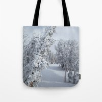 snow Tote Bags featuring Snow by Chris Root
