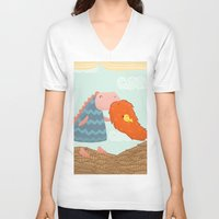 beard V-neck T-shirts featuring Beard by Loezelot