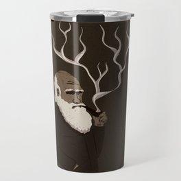 Darwin ponders evolution Travel Mug
