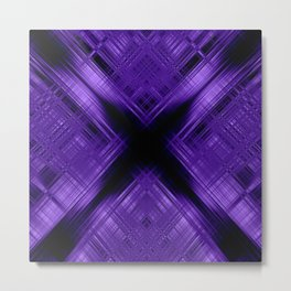 Purple cross pattern Metal Print