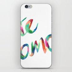 Te Amo iPhone & iPod Skin
