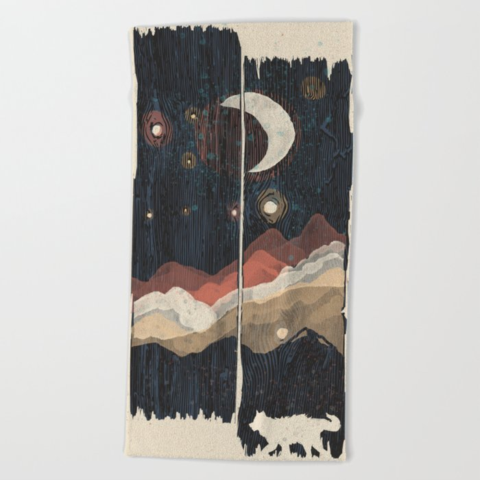 A Starry Night in the Mountains... Beach Towel