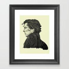 Sherlock Holmes ( Contour 04 ) Framed Art Print